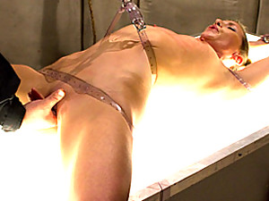 Bound girl enjoys her pain