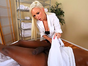 White Blonde Fucks Black in Hospital