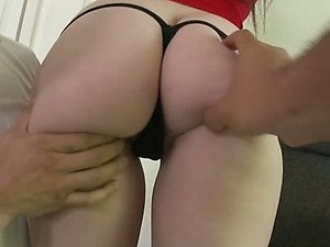 Fucking a Brunette Teen With Her Panties On