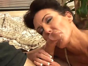 Mature gives a great and loving blowjob
