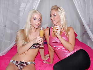 Perfect blondes have lesbian sex