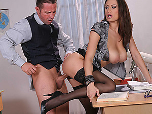 Naughty Office Minx Jane Enjoys Pole