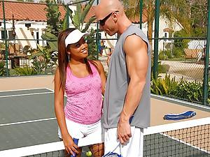 His black tennis playing slut