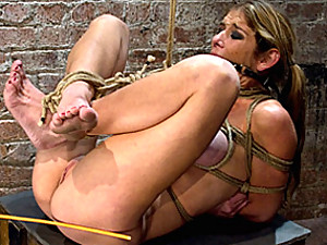 Ass fucked while tied