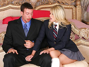 Pretty schoolgirl loves hard meat