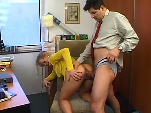 Blonde Secretary Having Anal Sex To Take The Stress From Her Boss
