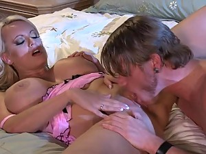 DD Cupped Blonde MILF Stormy Daniels Gets Her Pussy Eaten and Fucked