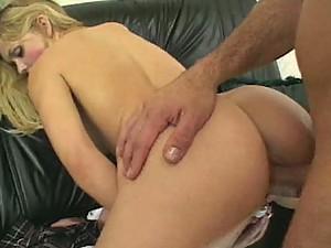 Big Cock Fucks This Masturbating Blonde Teen's Sweet Pussy