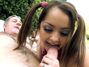 Porn Pros Network - Adorable Jewel is one really sweet slut, especially around older men. Her favorite thing to do is go on the prowl for the old and the seriously horny. No matter where she is she always tends to find some old pervert trying to get a hol