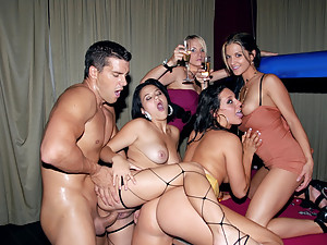Orgy On The Pool Table