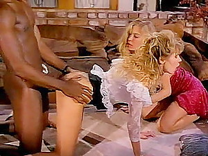 Well-hung black retro porn star doing latin chicks