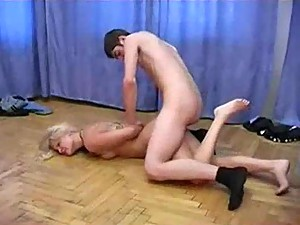 Making her ass scream with his cock