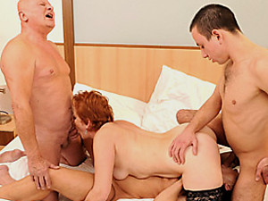 Foursome with two matures