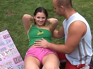 Hot Teen Nikki Gets Banged Outdoors