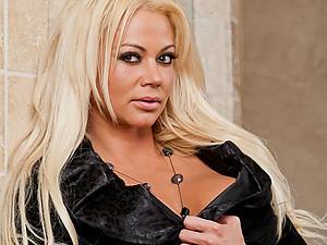 Saucy Blonde Nikita Covered In Cum