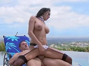 Sinful Brunette MILF Alektra Blue Gets Fucked In a Sex Maid Uniform